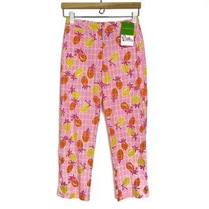 NEW Lilly Pulitzer Bermuda Pink Lilly Capri Pants